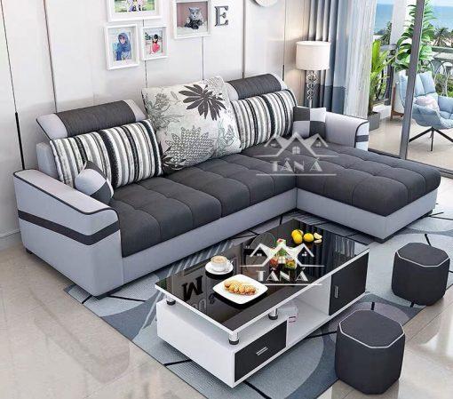 bộ bàn ghế sofa vải giá rẻ HV06