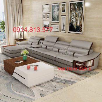 Sofa da phòng khách giá rẻ