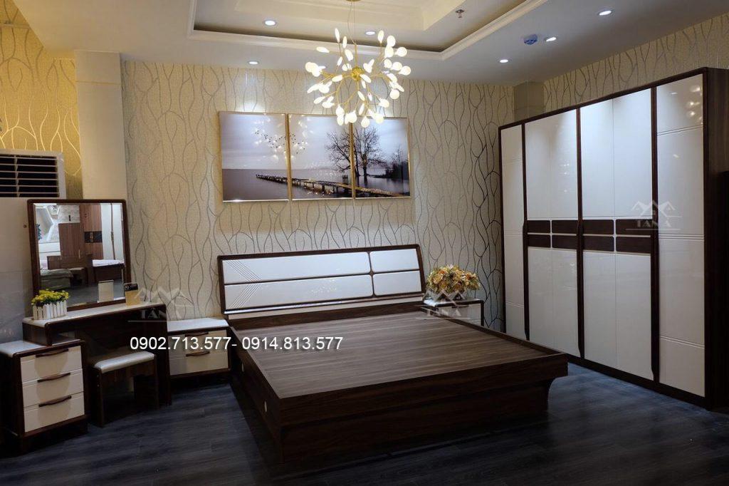 Combo giường tủ hiện đại nhập khẩu đài loan