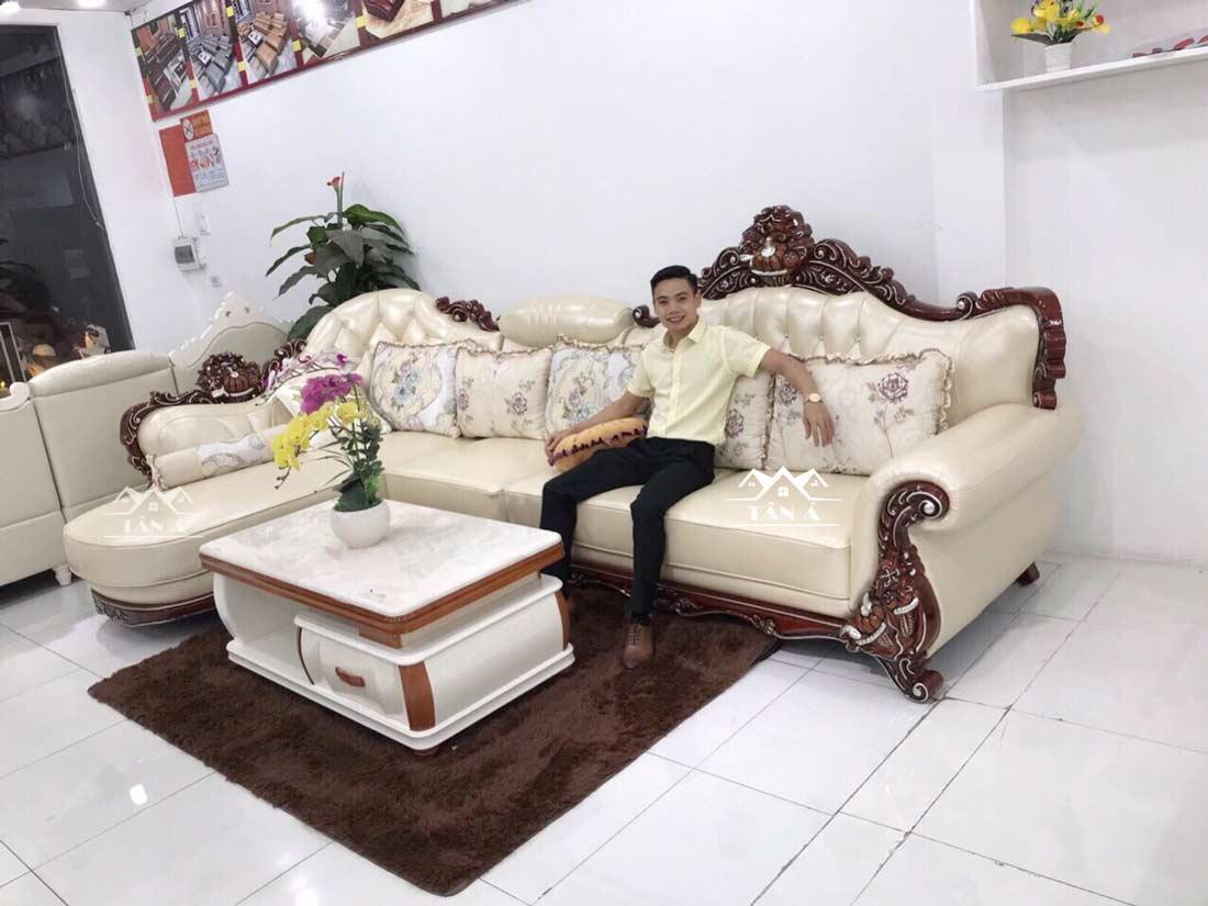 20 mẫu ghế sofa da chữ L đẹp nhất cho phòng khách vừa và nhỏ