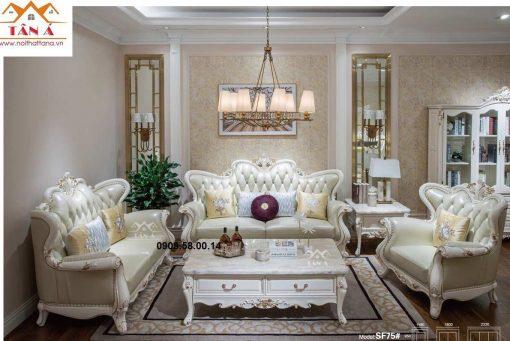bộ bàn ghế sofa tân cổ điển giá rẻ tphcm TA-SF75