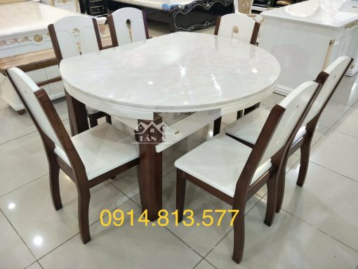 bộ bàn ăn nhập khẩu cao cấp BA-06