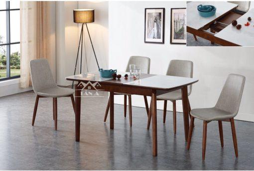 bộ bàn ăn 6 ghế gỗ sồi giá rẻ BA-13