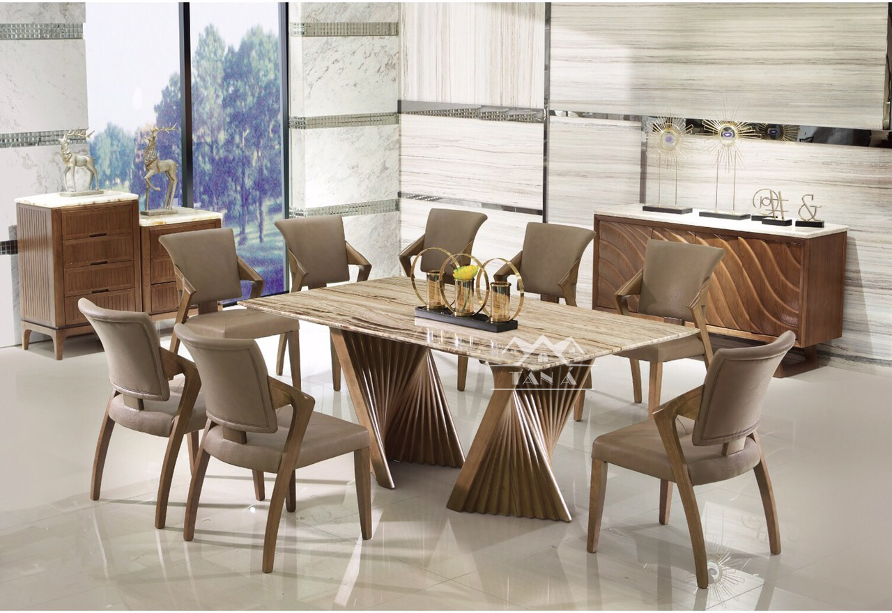 Bộ bàn ăn 8 ghế hiện đại giá rẻ