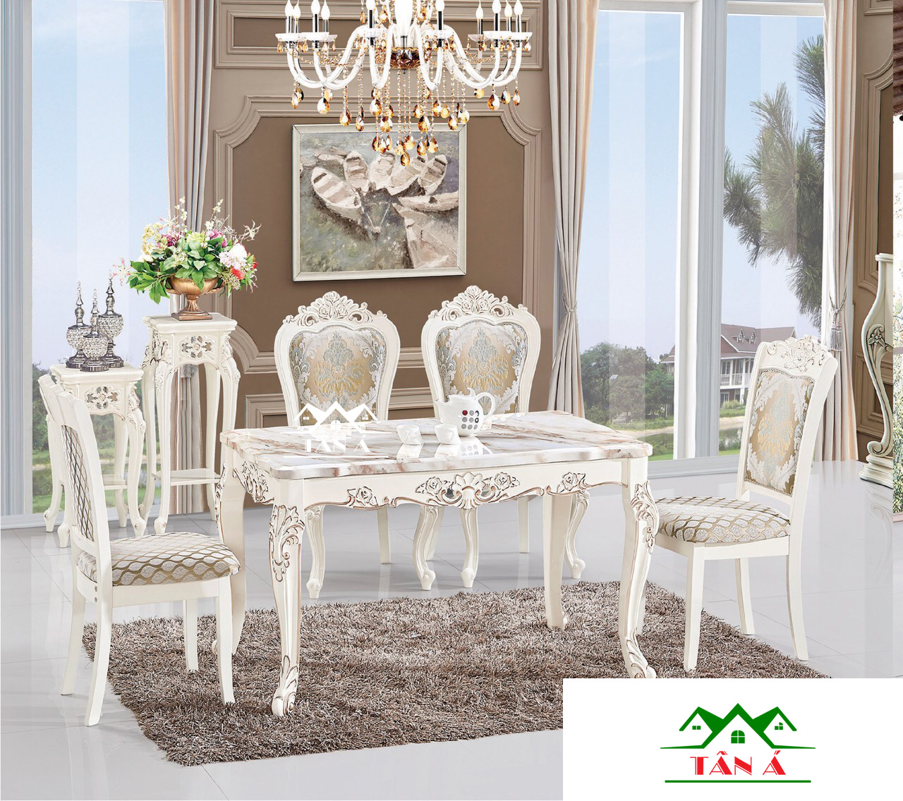 Bộ bàn ăn gia đình BA22