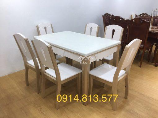 Bộ bàn ăn 6 ghế tân cổ điển giá rẻ