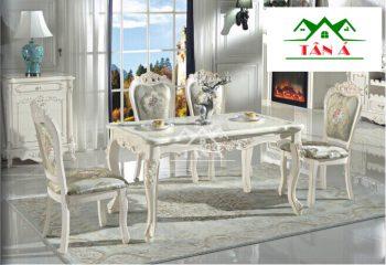 bộ bàn ăn 6 ghế nhập khẩu
