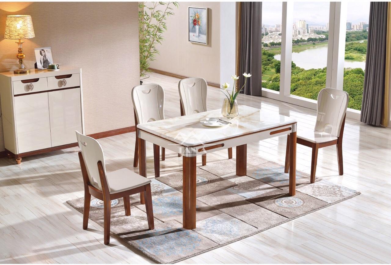 Cách phối bàn ghế ăn gia đình cho chung cư, nhà phố