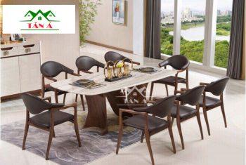 bộ bàn ăn gỗ sồi 8 ghế BA-35