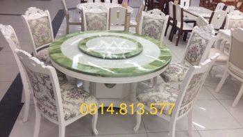 Bộ bàn ăn tròn 6 ghế tân cổ điển giá rẻ