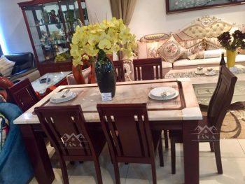 bộ bàn ăn gỗ cao su nhập khẩu đài loan