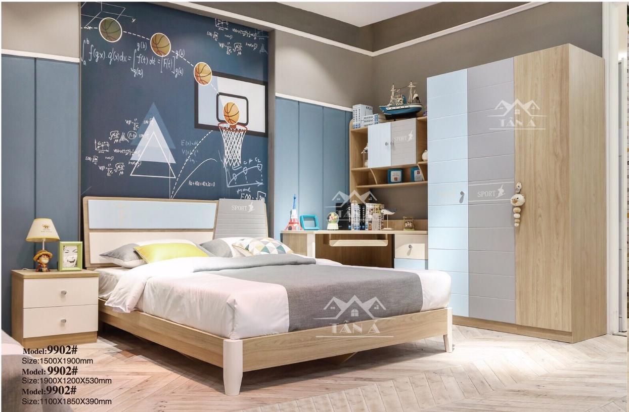 bộ giường ngủ gỗ công nghiệp giá rẻ