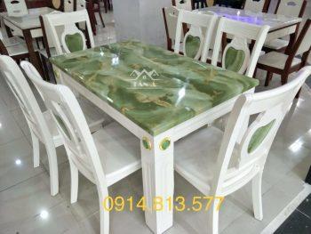 bộ bàn ăn 6 ghế gỗ sồi nhập khẩu đài loan