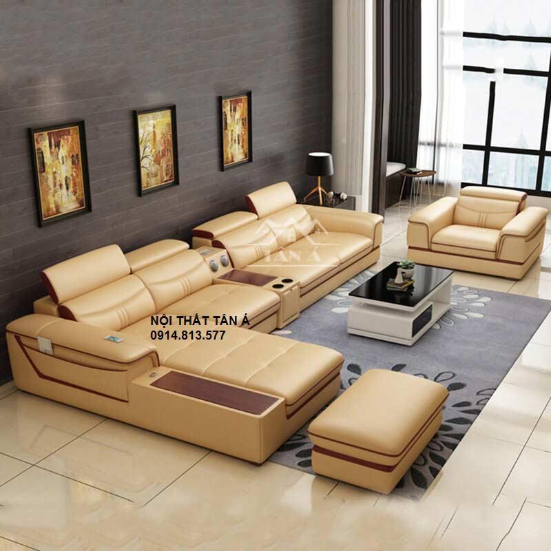 Sofa da phòng khách chung cư