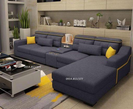 bộ bàn ghế sofa vải giá rẻ nv08