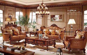 bàn ghế sofa tân cổ điển giá rẻ hàng nhập khẩu cao cấp TA-SF08