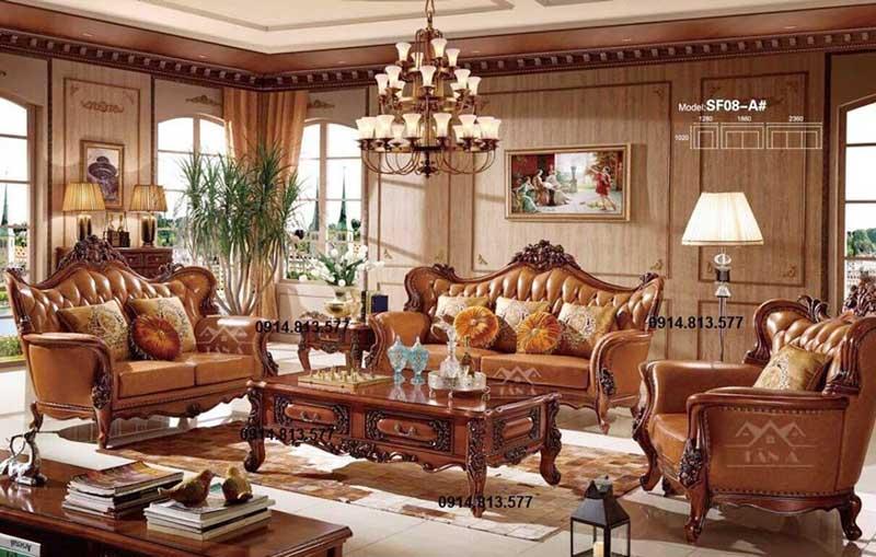 Mẫu bàn ghế sofa tân cổ điển giá rẻ hàng nhập khẩu cao cấp
