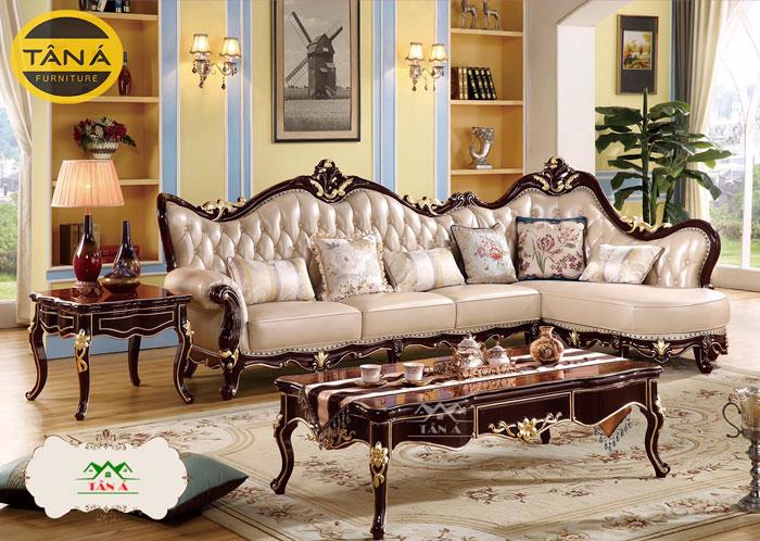 sofa tân cổ điển góc l