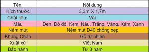 Bảng Sofa Vải Góc L Cao Cấp TV02