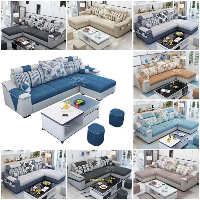 Top 20 mẫu ghế sofa vải bố mẫu đẹp hiện đại cho phòng khách vừa và nhỏ