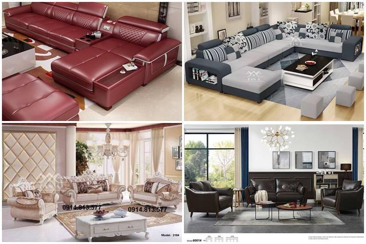 Bộ bàn ghế sofa cho phòng khách lớn đẹp hiện đại