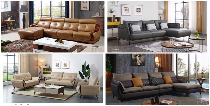 Ghế Sofa da tân cổ điển đẹp nhập khẩu cao cấp