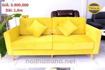 sofa băng màu vàng