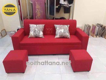 sofa băng màu đỏ