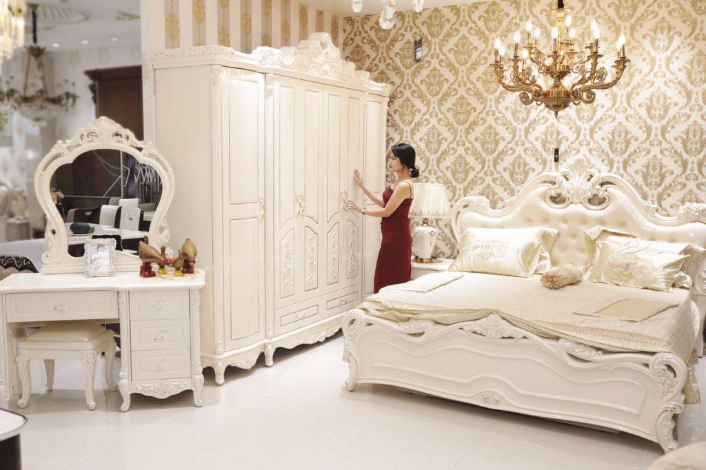 Giường ngủ tân cổ điển giá rẻ mẫu hot 2019