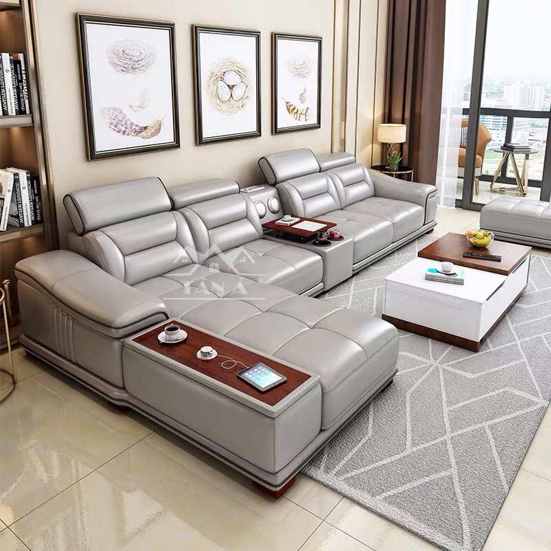 Top 20 mẫu ghế sofa da chữ L đẹp nhất cho phòng khách vừa và nhỏ