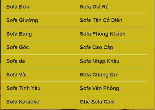Thông tin các sản phẩm sofa tại Hưng Phát