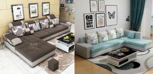 hai mẫu sofa chữ L đẹp