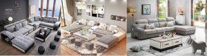 Tổng hợp sofa góc màu xám trắng đẹp