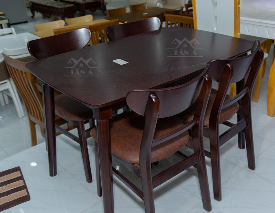 bộ bàn ăn mango 4 ghế giá rẻ BA-04
