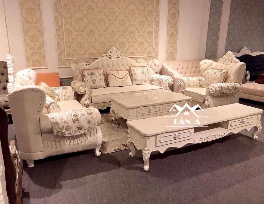 bộ bàn ghế sofa tân cổ điển giá rẻ tphcm TA-135