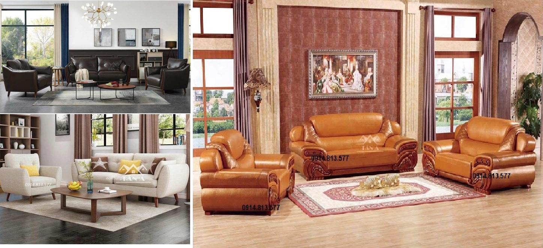 Phong cách bộ sofa sắp xếp quen thuộc