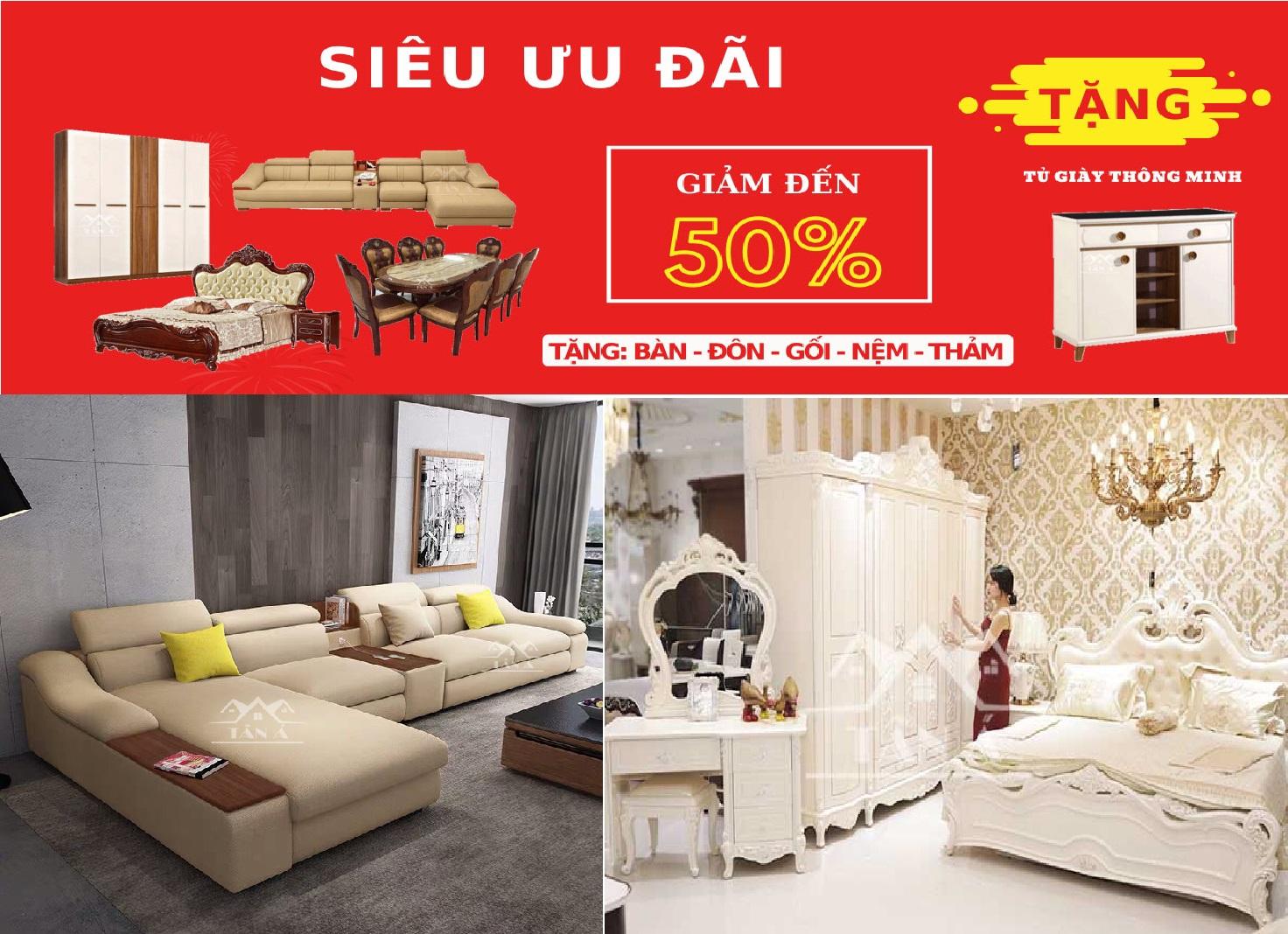 Sofa giá rẻ Sóc Trăng - Nội thất Tân Á