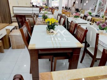 bộ bàn ăn 6 ghế gỗ sồi BA42