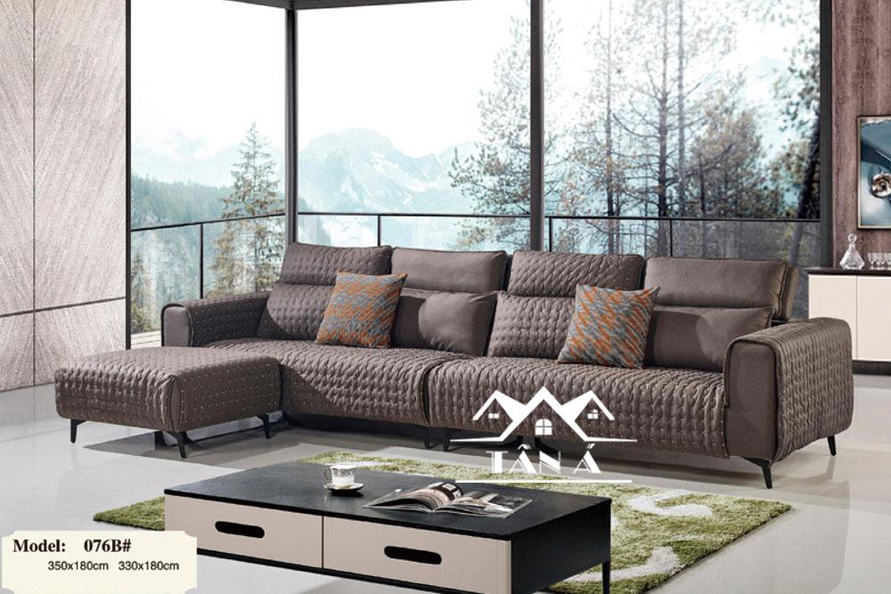 mẫu ghế sofa vải giả da