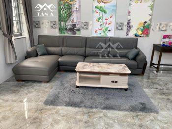 Ghế sofa da cao cấp nhập khẩu Malaysia, sofa da phòng khách cao cấp