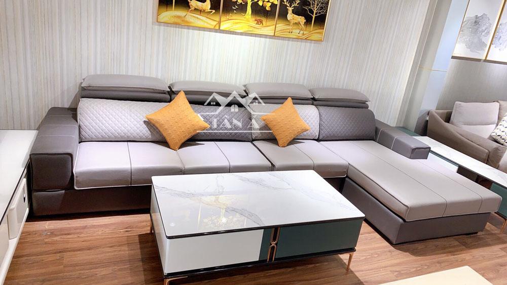 Bộ bàn ghế sofa vải giả da