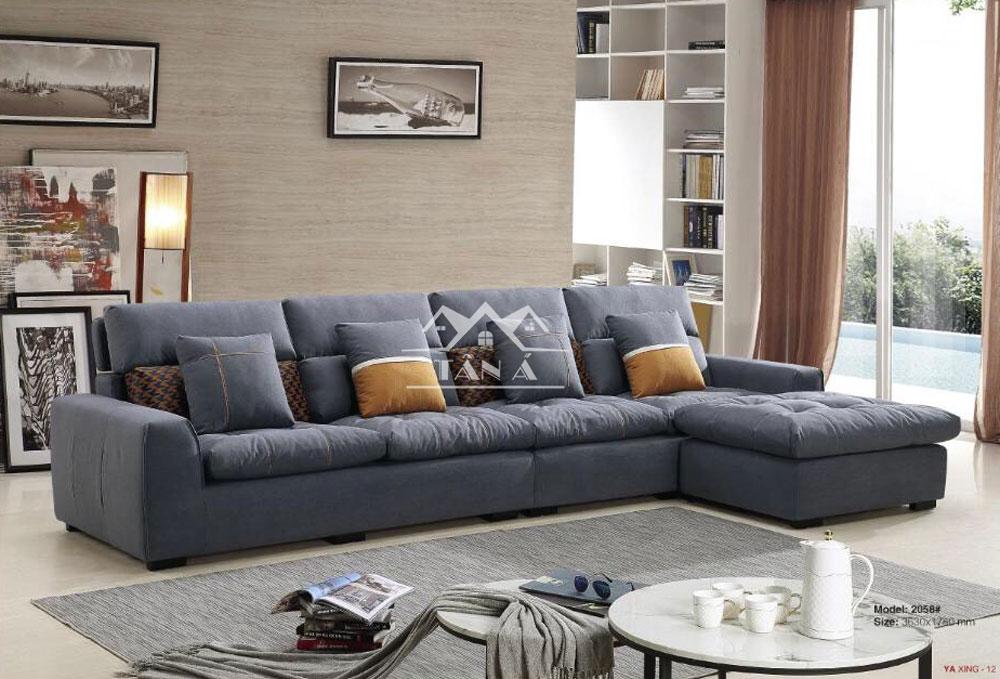 mẫu ghế sofa vải giả da đẹp hiện đại