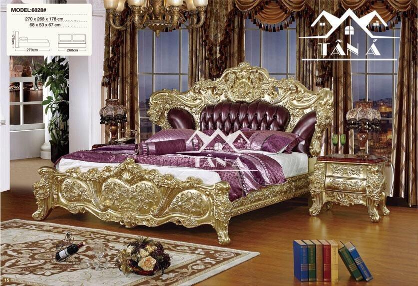 Mẫu giường ngủ tân cổ điển đẹp