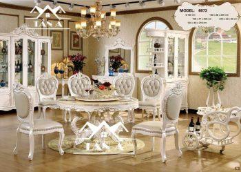 bàn ăn 6 ghế tân cổ điển