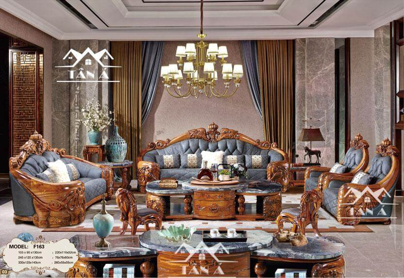 Ghế sofa gỗ mun cao cấp thiết kế đầu voi của vua chúa