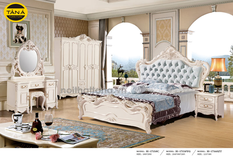 Giường ngủ nhập khẩu phong cách châu Âu đẹp