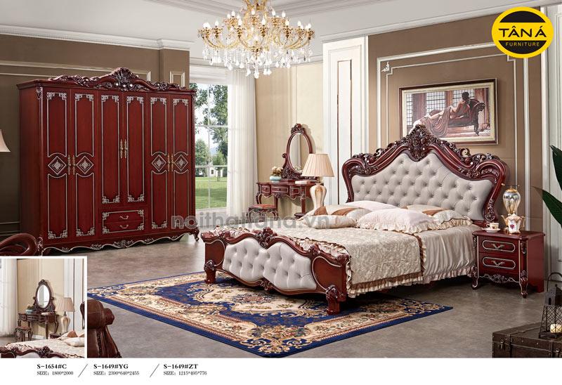 bộ giường tủ nhập khẩu tân cổ điển