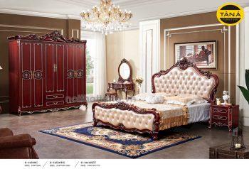 bộ giường tủ tân cổ điển nhập khẩu