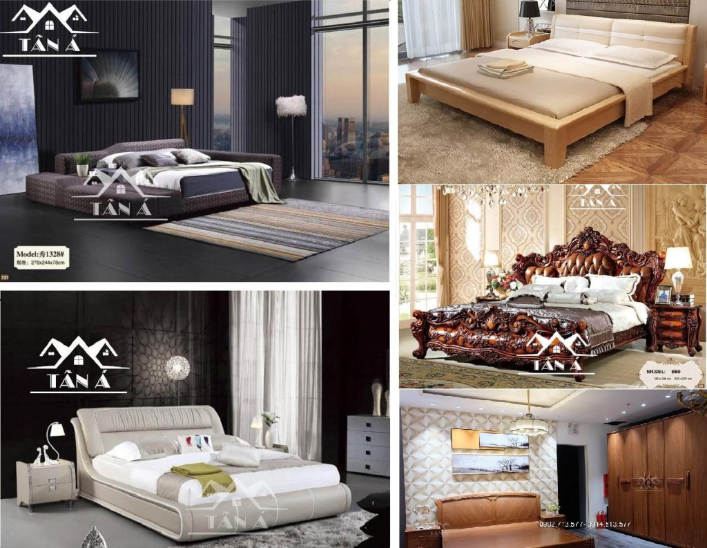 Các mẫu giường ngủ gỗ tự nhiên