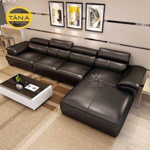 sofa da phòng khách cao cấp